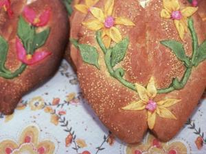 Day of the Dead Bread, Abastos Market, Oaxaca, Mexico by Judith Haden