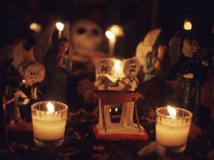 Day of the Dead Night Vigil Details, Oaxaca, Mexico by Judith Haden