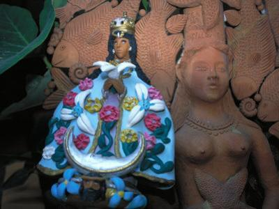 Oaxaca's Patron Saint, the Virgin of Solitude in Clay, Mexico