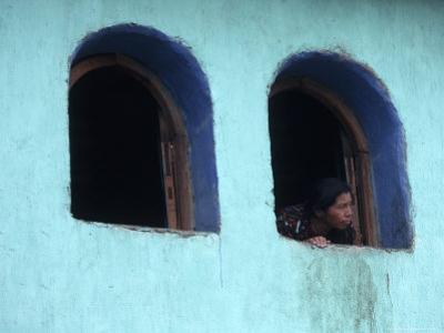 Woman Looking Out of Window, Chichicastenango, Guatemala