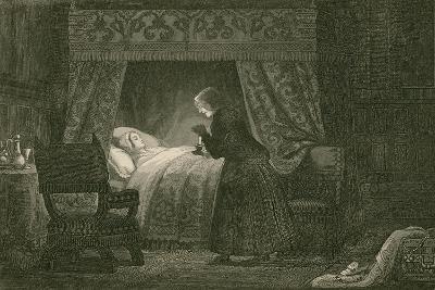 Judith Malmayus Meditating the Murder of Amabel-John Franklin-Giclee Print