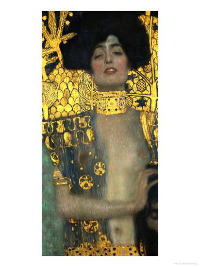 Judith with the Head of Holofernes, 1901-Gustav Klimt-Premium Giclee Print