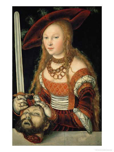 Judith with the Head of Holofernes-Lucas Cranach the Elder-Giclee Print