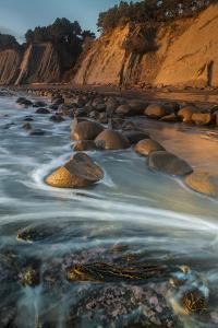 California. Bowling Ball Beach at Low Tide at Sunset, in Mendocino County by Judith Zimmerman