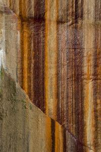 Michigan. Mineral Seep Wall Detail Along Shore of Lake Superior, Pictured Rocks National Lakeshore by Judith Zimmerman