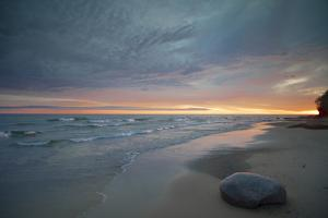 Michigan. Solitary Boulder on a Beach of Lake Superior, Pictured Rocks National Lakeshore by Judith Zimmerman