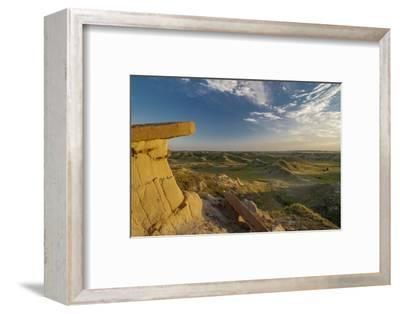 North Dakota, Overlooking an Eroded Prairie from an Erosion Formation
