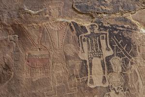 Usa Three Kings Petroglyph, Dinosaur National Monument by Judith Zimmerman