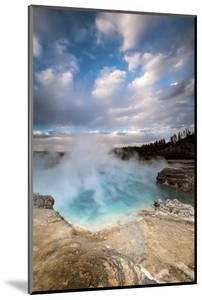 Wyoming, Yellowstone National Park. Clouds and Steam Converging at Excelsior Geyser by Judith Zimmerman
