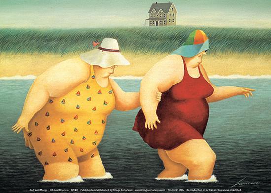 Judy and Marge-Lowell Herrero-Art Print