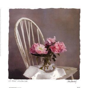 Old Chair With Peonies by Judy Mandolf