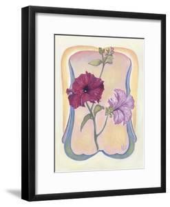 Art Deco Petunias by Judy Mastrangelo