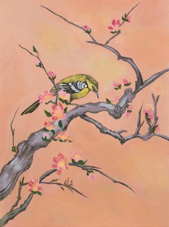 Asian Bird Illustration I by Judy Mastrangelo
