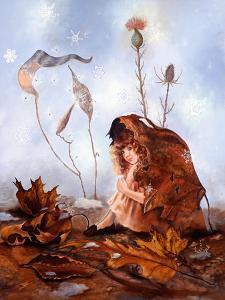 Thumbelina in Leaves by Judy Mastrangelo