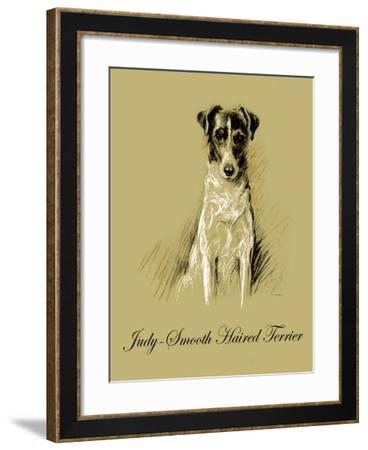 Judy The Smooth Haired Terrier-Lucy Dawson-Framed Art Print