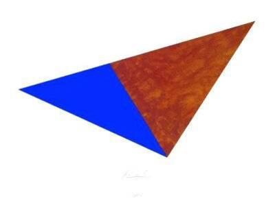 Dreieck Rost Blau