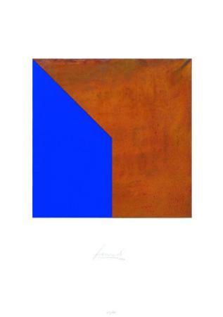 Quadrat mit Spitze Rost Blau