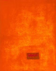 Untitled, c.1991 (Orange) by Jürgen Wegner