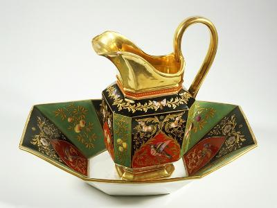 Jug and Bowl Decorated in Charles X Style, 1824-1830--Giclee Print