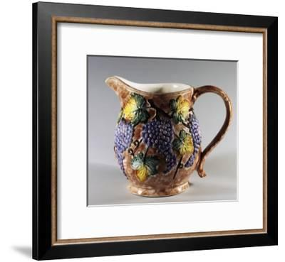 Jug Decorated with Bunches of Grapes--Framed Giclee Print