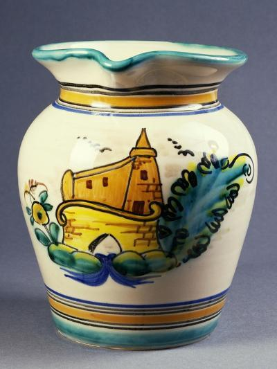 Jug Decorated with Country Bridge--Giclee Print