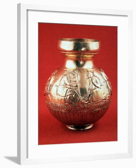 Jug with Scenes from Scythian Life, C400 Bc--Framed Photographic Print