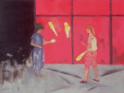 Jugglers at the Beaubourg, 1975-David Alan Redpath Michie-Giclee Print