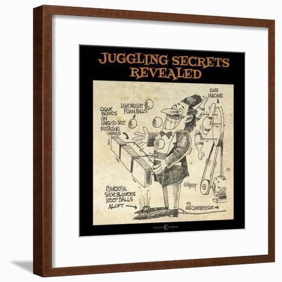 Juggling Secrets-Tim Nyberg-Framed Giclee Print