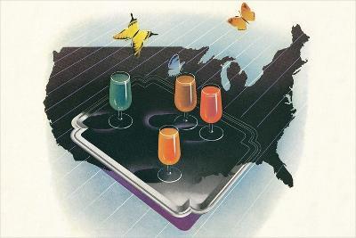 Juices across America--Art Print