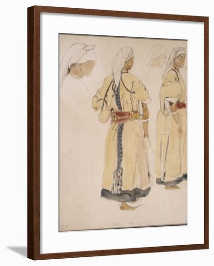 Juive d'Afrique du Nord ou Juive d'Alger-Eugene Delacroix-Framed Giclee Print