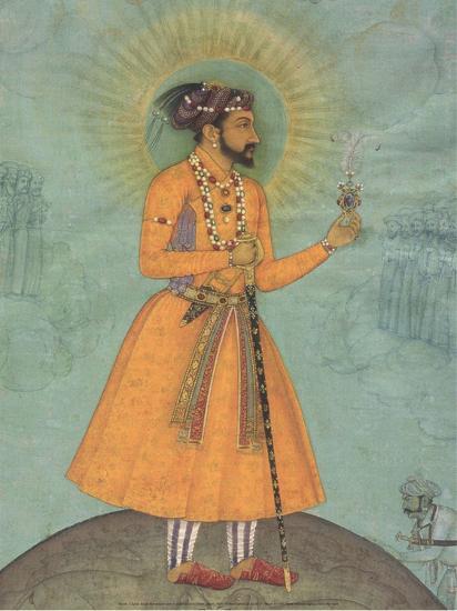 Jujhar Singh Bundela Kneels in Submission to Shah Jahan', 1630-Bichitr Bichitr-Art Print