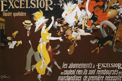 Excelsior Poster by Jules-Alexandre Gr�n