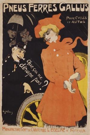 Pneus Ferres Gallus Poster by Jules-Alexandre Gr?n