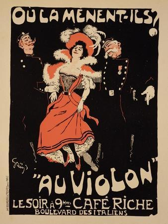 "Reproduction of a Poster Advertising the ""Cafe Riche,"" Boulevard Des Italiens, 1897"