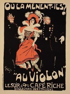 "Reproduction of a Poster Advertising the ""Cafe Riche,"" Boulevard Des Italiens, 1897 by Jules-Alexandre Grün"