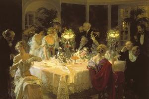 The Dinner Party by Jules-Alexandre Grün