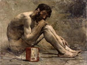 Diogenes, 1905 by Jules Bastien-Lepage