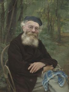 """Portrait de """"mon grand-père"""" by Jules Bastien-Lepage"""