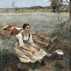 The Haymakers, 1880 by Jules Bastien-Lepage