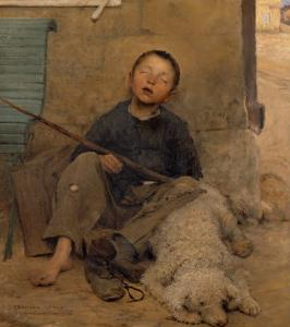 The Sleeping Itinerant by Jules Bastien-Lepage
