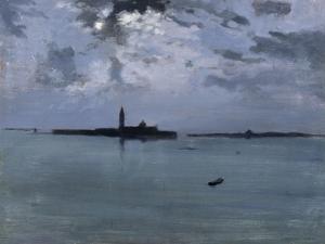 Venise : la nuit sur la lagune by Jules Bastien-Lepage