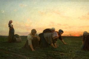 The Weeders by Jules Beton