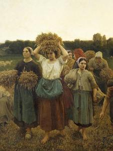 Calling in Gleaners, 1859 by Jules Breton