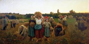 Calling in the Gleaners, 1859 by Jules Breton