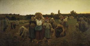 Calling in the Gleaners (Le Rappel Des Glaneuses), 1859 by Jules Breton