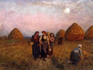 Dawn labour (Ardeurs du crepuscule). 1900 by Jules Breton