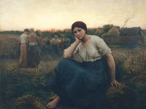 Evening, 1860 by Jules Breton