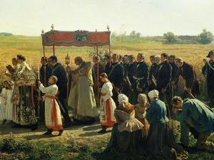 La Bénediction Des Blés En Artois En 1857 (Blessing the Wheat in Artois, France, in 1857) (Detail) by Jules Breton