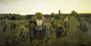 La Rappel Des Glaneursthe Recall of the Gleaners by Jules Breton