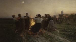 La Saint-Jean, 1875 by Jules Breton